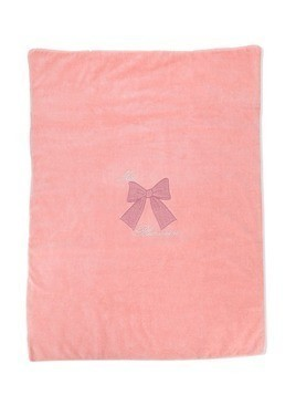 Miss Blumarine bow embroidery towel - Pink