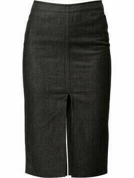 Gucci Pre-Owned slit-detail pencil denim skirt - Grey