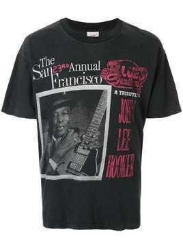 Fake Alpha Vintage John Lee Hooker print T-shirt - Black