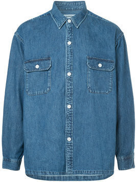 monkey time denim shirt jacket - Blue