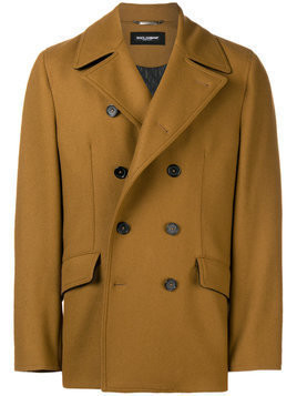 Dolce & Gabbana double-breasted fitted coat - Brown