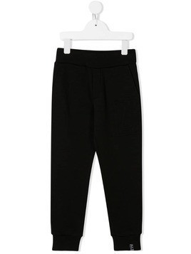 Lanvin Enfant embroidered logo track trousers - Black