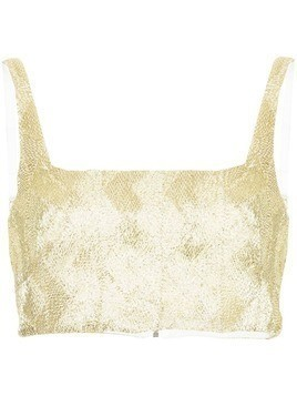Manning Cartell zigzag crop top - Metallic