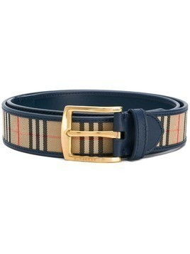 Burberry checked belt - Blue