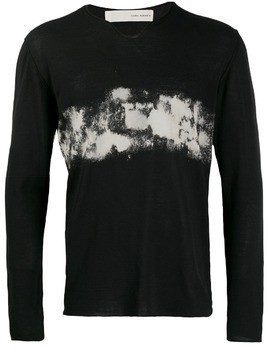 Isabel Benenato v-neck sweater - Black