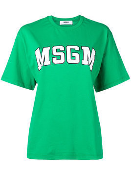 MSGM oversized logo T-shirt - Green