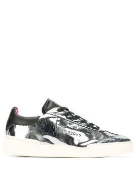Ghoud metallic lace-up sneakers - Silver