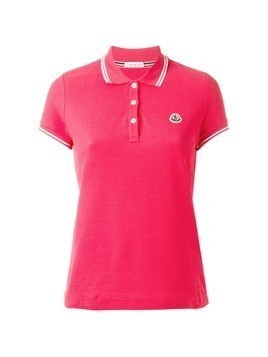 Moncler striped trim polo shirt - Pink&Purple