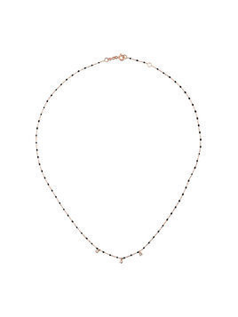 Gigi Clozeau black RG bead diamond and rose gold necklace