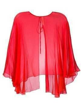 Maria Lucia Hohan mousseline cape - Red
