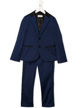Paolo Pecora Kids two-tone two piece suit - Blue