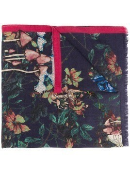 Etro floral print scarf - Blue