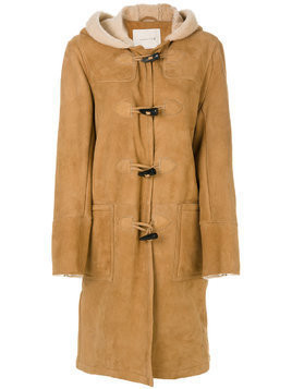 Mackintosh hooded shearling coat - Brown