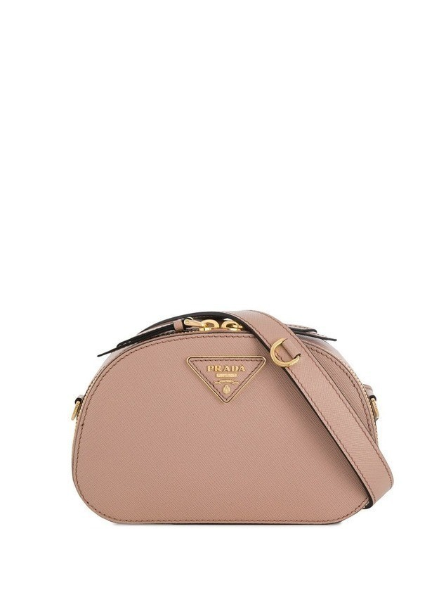 Prada logo plaque belt bag - NEUTRALS