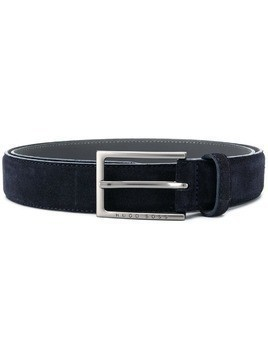 BOSS buckled leather belt - Blue