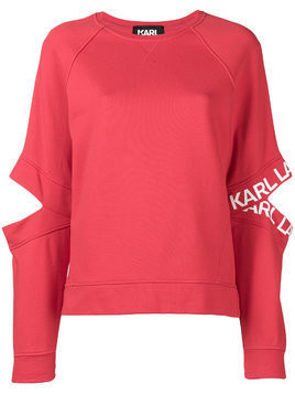 Karl Lagerfeld cut out jumper - Red