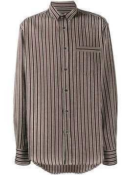 Christian Pellizzari regular-fit striped shirt - Red