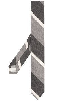 Thom Browne striped cotton tie - Grey