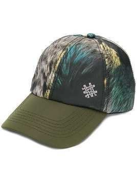 Mr & Mrs Italy fur print baseball cap - Green