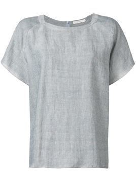 6397 back zip T-shirt - Grey