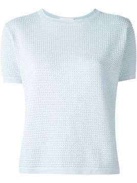 Zanone shortsleeved knit top - Blue