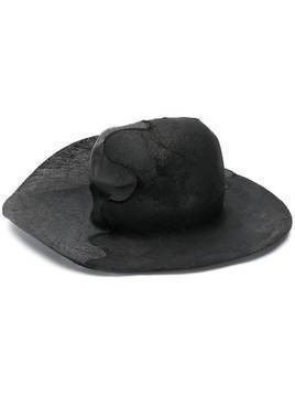 Horisaki Design & Handel distressed wide brim hat - Black