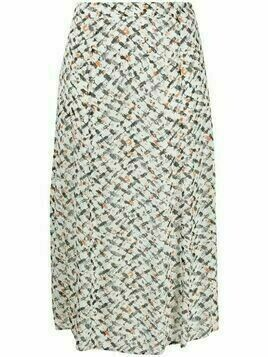 Lala Berlin geometric print high-waist skirt - White