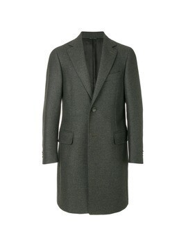 Canali single breasted coat - Green