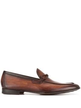 Magnanni woven trim loafers - Brown