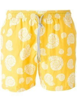 Capricode printed swim shorts - Yellow & Orange