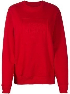 Opening Ceremony embossed logo crew neck sweatshirt - Red