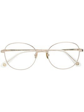 Peter & May Walk round frame glasses - Gold