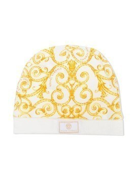 Young Versace patterned knit hat - White