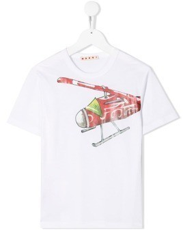 Marni Kids helicopter T-shirt - White