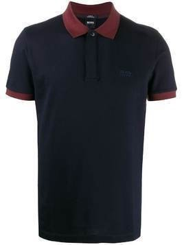 BOSS short sleeved polo shirt - Blue