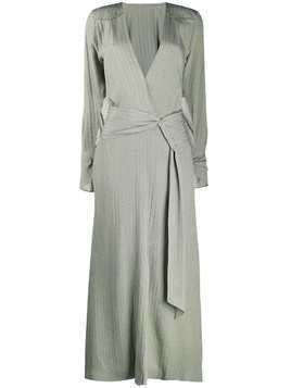 Roland Mouret silk wrap maxi dress - Grey