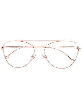 Fendi Eyewear round frame glasses - GOLD