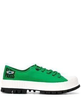 Kenzo x Palladium Pallashock low-top sneakers - Green