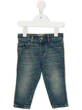 Gucci Kids side stripe jeans - Blue