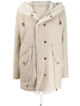Mr & Mrs Italy drawstring-fastening hooded jacket - White