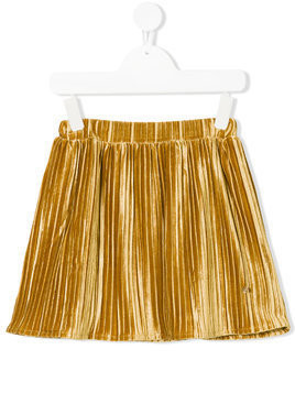 Le Mu pleated velvet skirt - Yellow
