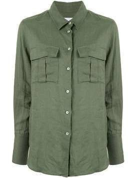 Venroy chest pockets shirt - Green