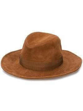 Borsalino fedora hat - Brown