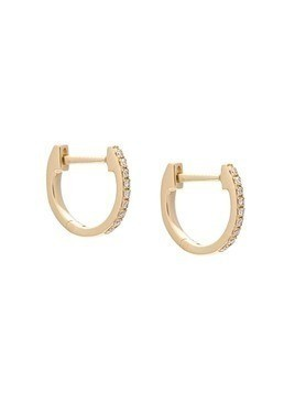 Ef Collection mini Huggie diamond earrings - Metallic