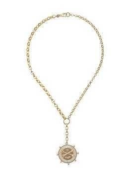 Foundrae 18kt yellow gold large Passion Mix Belcher necklace