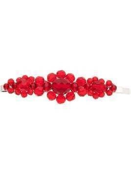 Simone Rocha red large floral bead embellished hair clip