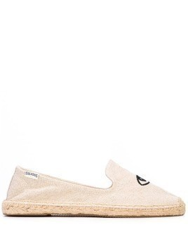 Soludos embroidered eyes espadrilles - Brown