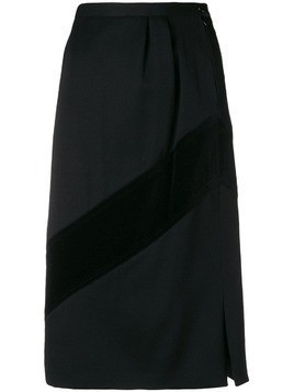 Valentino Pre-Owned 1980's straight skirt - Black