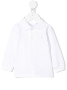 Ralph Lauren Kids logo embroidered polo shirt - White