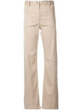 Christopher Esber high rise wide leg trousers - Brown